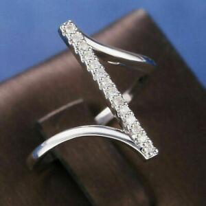 Classic Engagement & Wedding Zig Zag Style Ring 0.74 Ct Diamond 14K White Gold