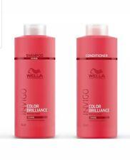 Invigo Wella Brilliance Coarse Shampoo & Conditioner Duo Litre 1000ml Pack