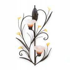 Gallery of Light Amber Lilies Candle Wall Sconce
