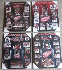 Set of 4 Detroit Red Wings Stanley Cup Championship Plaques- 2008, 02, 98, 97