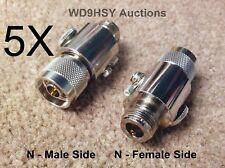 Five 5X New N Connector Coaxial Inline Lightning Static Discharge Arrestor Ham