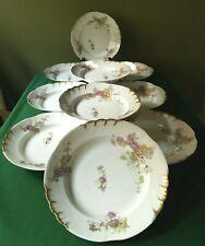 Porcelaine de Limoges Jean Pouyat XIX ème - 10 Assiettes Creuses - espriantik31