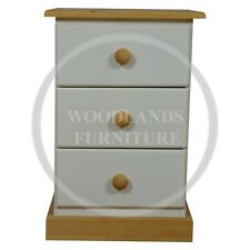 HANDMADE CAMBRIDGE COUNTRY 3 DRAWER BEDSIDE  (ASSEMBLED)