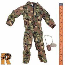 US Airborne Ranger - Camo Jumpsuit & Dogtags - 1/6 Scale - GI Joe Action Figures