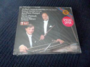 2xCD BACH Sonatas Flute Flöte RAMPAL PINNOCK harpischord PIDOUX cello SEALED CBS
