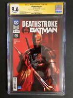 Deathstoke 🔥 #30 Variant Cover CGC 9.6 SS Mattina! DC Comics!