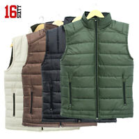 Men Puffer Warm Vest Waistcoat Gilet Jacket Sleeveless Padded Thick Outdoor Coat