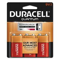 Duracell Quantum 9V Alkaline Battery - 3 Count - EXP. 2022