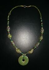Handmade Beads Enamel Plated Crystal Necklace. RELIABLE