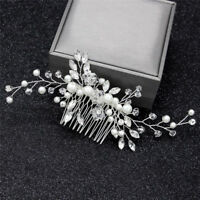 Crystal Pearls Women Hair Jewelry Wedding Hair Comb Bridal Headpieces Fashion  Z