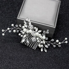 Crystal Pearls Women Hair Jewelry Wedding Hair Comb Bridal Headpieces Fashion LY