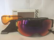 Uvex Hypersonic Goggles Polished Black with Red Mirror and Orange NEW