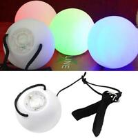 Pro LED Glow Poi Luminescent Toy Ball - Light up Practice Glow Poi Spinning B6J7