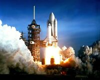 SPACE SHUTTLE COLUMBIA (STS-1) FIRST LAUNCH APRIL 1981  8X10 NASA PHOTO (EP-449)