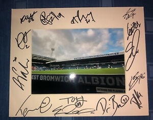 West Brom Albion WBA 21/22 HAND SIGNED 10x8 MOUNT DISPLAY Signed By 15 Players F