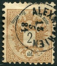 AUSTRIAN POST OFFICES IN LEVANT-1883 2 sold Black & Brown Sg 14 FINE USED V21029