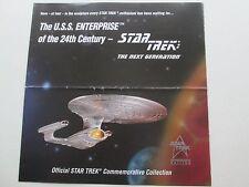 Star Trek Brochure/sell sheet for Pewter Enterprise