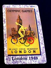 BERLIN 1936. OLYMPIC GAMES POSTER. PREPAID CARD FROM A SET OF 25 CARDS