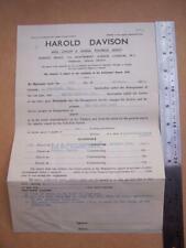 Jazz Ephemera  Harold Davison  Booking form - The Pia Beck Trio