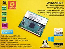 Compex wlm200nx Atheros ar9220 802.11n ABG 300 Mbps 2x2 mimo MiniPCI Dual Band