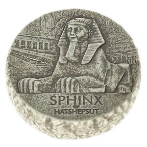 Tchad - Silver 3000 Francs Coin - 5 Oz. - 'Sphinx of Hatshepsut' - 2019 - AU