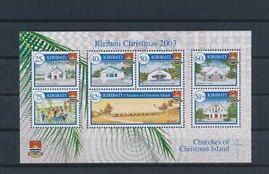 LO42748 Kiribati 2003 churches christmas holidays good sheet MNH