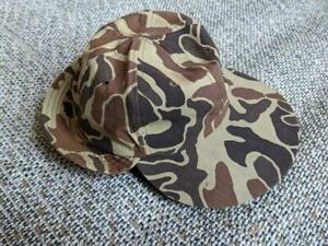 vintage 1980s FROGSKIN hunting hat EAR FLAP camouflage L brown