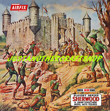 Airfix HO-OO Sherwood Castle Poster Advert Shop Sign Box Artwork Robin Hood