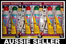 6 x Bingo Marker Pen Texta Dabbers Dabber Dauber Assorted Colours AUSSIE SELLER