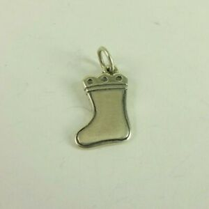 Sterling Silver James Avery Christmas Stocking Charm  UNCUT