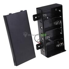 """Black Hold 4 D Size Cell 6 V DIY Battery Box Holder Case With 5"""" Leads Wire"""