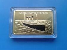 1x 1912 RMS TITANIC Boat Ship 1oz Bar of 24Kt Gold Ingot 100 Anniversary Joblot