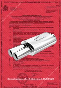 MagnaFlow ABE nur Gutachten eintragungsfrei FORD USA Probe II 5x8D