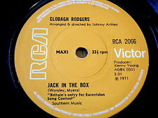 """CLODAGH RODGERS - JACK IN THE BOX     7"""" VINYL EP  1971 EUROVISION"""