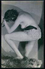 French nude woman Biederer glamour Lingerie original c1925 photo postcard
