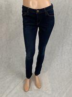 Banana Republic Womens Size 27P Dark Wash Skinny Stretch Denim Blue Jeans Petite