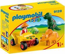 Playmobil 1.2.3 Explorer with Dinosaurs - 9120 - Childrens Playset