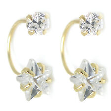 White Crystal Double Stud Earrings New listing