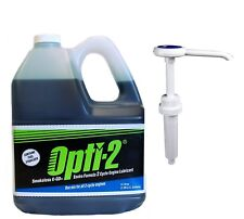 Opti-2® 2-Cycle Engine Lubricant Mixing Oil 1.06 Gallon Jug & Pump 20044 / 21624
