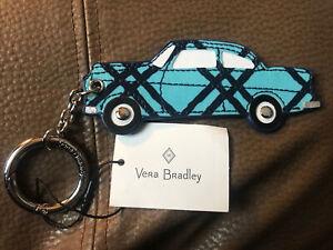 VERA BRADLEY Bag Charm BEEP! BEEP! CUBAN LATTICE Cute, Rare, Car, Auto DESIGNER