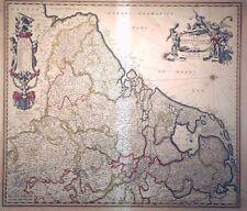 Kupferstich, Landkarte Niederlande, Frederic de Wit, um 1680, Belgien