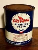 Vintage Chevron Starting Fluid Can Standard Oil Company of California PT 1954 #3