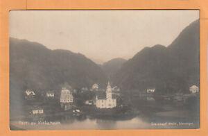 Parti av Kirkehavn Norway 1920 Postcard
