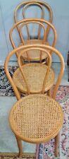 3 chaises de bistrot en hêtre courber de style thonet