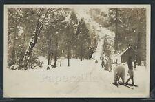 Ca Mariposa County Rppc c30 Snow Ski Sled Toboggan Run Snow Skiers Badger Pass?