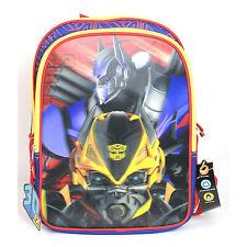 "NEW Transformers 3D FX Hollogram Bumblebee/Optimus Prime 16"" Backpack/Bag Defect"
