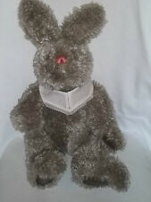 "GUND 19"" Plush RITA SWEDLIN RAIFFE Bunny RABBIT Jointed Gray Furry Signed Large"