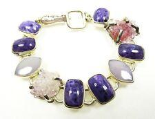MARS & VALENTINE/ECHO of the DREAMER Sterling Charoite Amethyst Link Bracelet