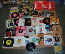 "LOT OF VINTAGE ASSORTED GENRE 7"" VINYL RECORDS"