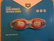 New Arena JUNIOR Swimming Goggles Tri-Pack -No Leak,No Fog & Max Comfort